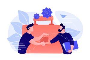 deux-partenaires-commerciaux-se-serrant-main-grande-mallette-partenariat-accord-cooperation-accord-termine-concept-fond-blanc